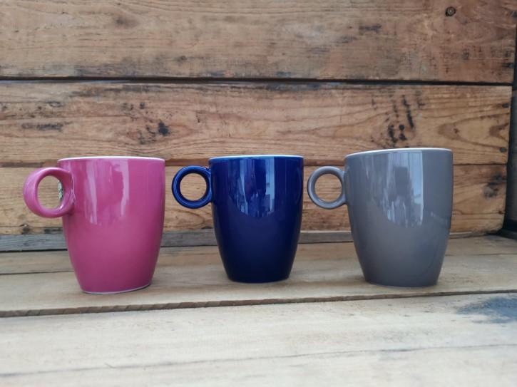 Kaffeebecher Rosa,Blau oder Grau