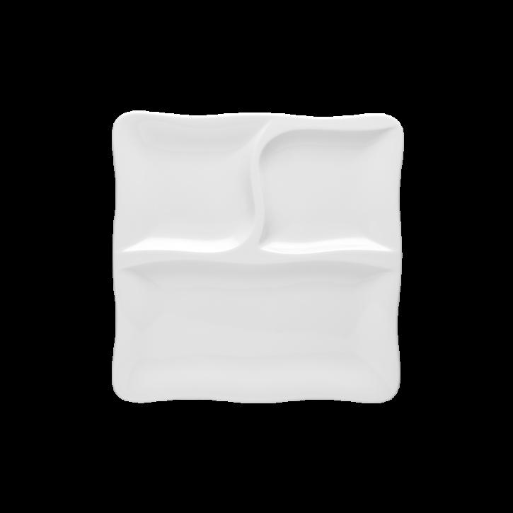 Gourmet Teller flach quadratisch 28cm 3tlg.